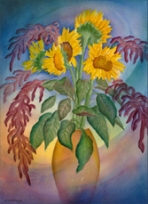Image: Sunflowers & Amaranth